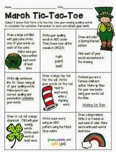 I received a very nice comment a few days ago about my Spelling Tic Tac Toe activities. Spelling Menu, 1st Grade Spelling, Spelling Homework, Spelling Words, Spelling Ideas, Word Study Activities, 5th Grade Activities, Spelling Activities, Listening Activities