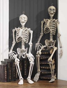 cute idea for Halloween...skeleton with books of curses, spells and potions