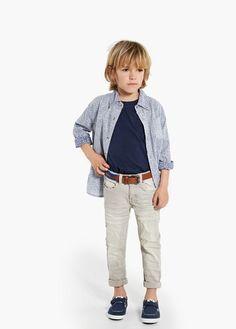 Gekleurde skinny jeans   MANGO KIDS