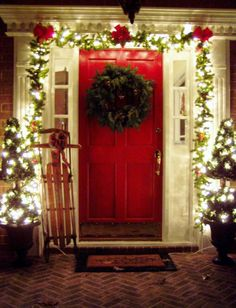 Glamorous Photos Of Outdoor Christmas Decorations And Outside Christmas Decorations Ideas Also Christmas Decorating Ideas Plus Door Decorations And Lampion Hanging On Tree In Christmas Decorating Ideas