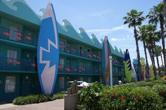 Surfs Up! section of Disney's All Star Sports Resort, closest to the lobby