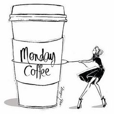 Megan Hess 🖤🖤🖤 Monday coffee - do your thing! Megan Hess Illustration, Art And Illustration, Coffee Illustration, Beauty Illustrations, Coffee Girl, I Love Coffee, My Coffee, Coffee Cups, Morning Coffee
