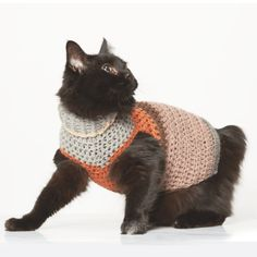 Small Pet Stripy Sweater Crochet Pattern This crochet pet sweater is so cute and has two little holes for your pets front two legs. This free crochet pattern is perfect for beginners. Crochet Dog Sweater Free Pattern, Dog Sweater Pattern, Free Crochet, Sweater Patterns, Crochet Food, Easy Crochet, Knitting Patterns, Crochet Patterns, Crochet Ideas