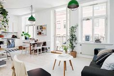 House tour: Find out how to make the most of your Scandinavian apartment with mid-century modern elements. WN Interiors were the design studio behind the Scandinavian interior design project you're ab Apartment Decoration, Apartment Interior, Apartment Design, Kitchen Interior, Apartment Ideas, Studio Apartment, Scandinavian Apartment, Scandinavian Interior, Home Deco