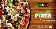 For the VEGETARIANS – Overloaded with fresh & juicy vegetables – The Vegetable Pizza  TRY NOW!! #BrizioPizza #SantaAna #LakeForest #BestPizzainTown #Veggies