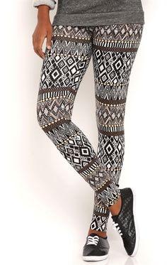 Colorful Aztec Print Leggings
