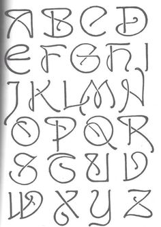Handlettering Alphabet