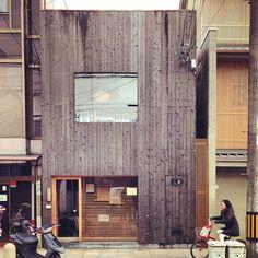 Burnt wood facade in Kyoto (at 革堂 (行願寺))