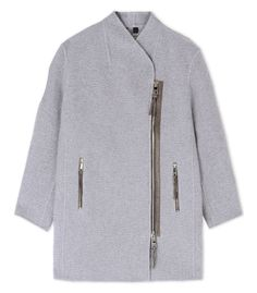 Burberry Prorsum Asymmetrical Cashmere Coat