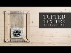 Tufted Texture [Ghiordes Knot, Knotted Pile Texture] - YouTube Weaving Loom Diy, Weaving Tools, Hand Weaving, Tapestry Weaving, Wall Tapestry, Diy Gifts For Kids, Weaving Patterns, Weaving Techniques, Craft Tutorials
