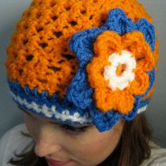 Crochet Flower Beanie Hat - Etsy $22.00