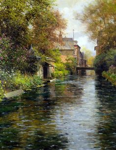 Louis Aston Knight was the son of the American expatriate painter, Daniel Ridgway Knight. Daniel Ridgway Knight was born in America and began studying art at the Pennsylvania Academy of Art. Louis Aston Knight, Paintings I Love, Seascape Paintings, Beautiful Paintings, Monet, Landscape Art, Landscape Paintings, Pintura Exterior, Knight Art