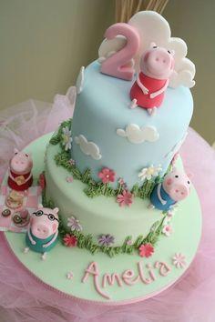 Tarta con diseño Peppa Pig