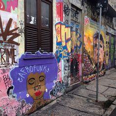 Street Art - Rua Joaquim Silva, Rio, Brazil.