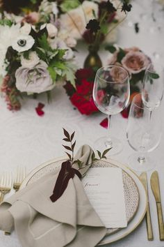 La Tavola Fine Linen Rental: Lacy Pearl with Tuscany Natural Napkins | Photography: Emily Blake, Planning: Kelly Leonard, Florals: Camellia Floral Design, Venue: San Ysidro Ranch, Rentals: Town & Country, Gold Flatware: Ventura Rentals