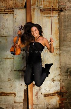Pose with string instrument