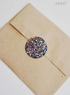 colorful glitter large circle stickers  (30 stickers). $6.00, via Etsy.