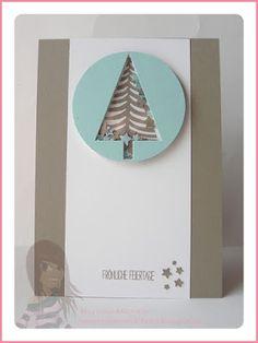 Stampin' Up! Rosa Mädchen Weihnachtsschüttelkarte mit Tannenbaumstanze und Sternenkonfetti