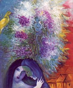 In 1910, Chagall, moved to Paris for four years. It was during this period that he painted some of his most famous paintings of the Jewish village, and developed the features that became recognizable trademarks of his art.
