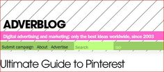 My Pinterest CV got into ADVERBLOG SlideShare!  http://www.adverblog.com/2012/02/18/ultimate-guide-to-pinterest/