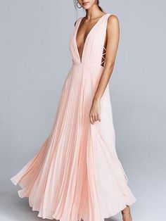 8873cfbb37405e Deep V-neck Backless Evening Dress