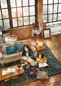 집에서 보낸 하루 (A day spent at home) by Aeppol