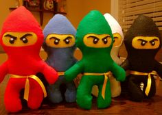 easy diy felt Ninjago dolls - these actually look pretty close to the read deal!