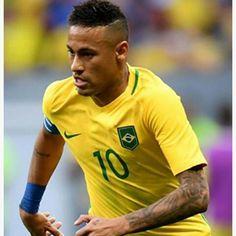 Muito lindo ⚽ #neymar #neymarjr #selecaobrasileira #rio2016 Neymar Jr, World Cup 2014, Olympics, Polo Shirt, Polo Ralph Lauren, Soccer, Mens Tops, Instagram, Auto Racing