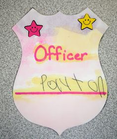 Tippytoe Crafts: community helpers. police badge