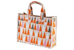 Canvas Flag Tote, Red/Taupe on OneKingsLane.com