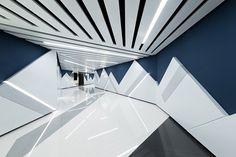 oft interiors' UA cinema design celebrates deconstructivism in shanghai Shanghai, Nendo Design, Deconstructivism, Architecture Design, Furniture Design, House, Interior Design, The Originals, Architects