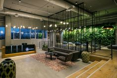 green wall office lobby green wall from ge healthcare offices in ramat gan commercial lighting http 47 best office plants and walls images on pinterest 2018