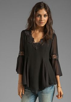 FREE PEOPLE Always In Love Top in Black at Revolve Clothing - Free Shipping!