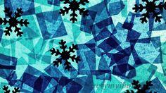 Zimowy witraż - praca plastyczna