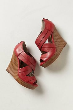 Fun colorful height.   Unwrapped Wedges