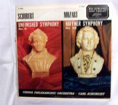 Carl Schuricht Vienna Philharmonic Orchestra Schubert and Mozart LP 33  B19062 #ConcertoSymphony
