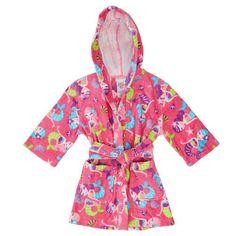St-Eve-Girls-Hooded-Beach-Cover-Up-Pink-Multi-Mermaid