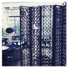 Kris Ruhs curtain at 10 Corso Como Cafè!