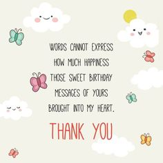 Thanks For Birthday Wishes Quotes Gifts Cards And Greetings Happy Me