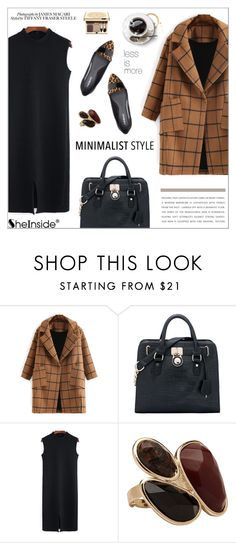 """""""Chic Minimalist Style"""" by aurora-australis ❤ liked on Polyvore featuring Clarins, Sheinside, Minimaliststyle and polyvoreeditorial"""