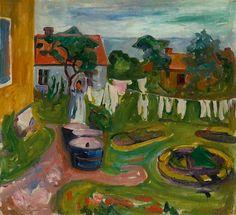 Edvard Munch (1863–1944) - Drying Clothes in Åsgårdstrand (Vêtements étendus à Åsgårdstrand), 1902