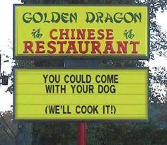 golden dragon chinese restaurant sign