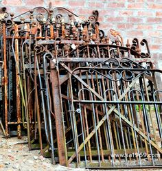 Gorgeous wrought iron gates, circa 1880's - Southern Accents Architectural Antiques - www.sa1969.com
