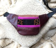 Festy Fanny Pack- Recycled Leather  by moonstoneleather on Etsy https://www.etsy.com/listing/513760861/fanny-pack-recycled-leather
