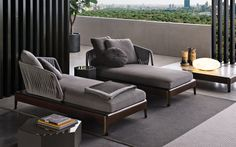 Italian furniture brands - Minotti new project for outdoor