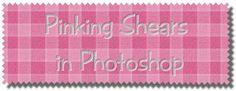 Photoshop brushes.Pinking shears !
