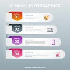 Minimal banners infographic Free Vector