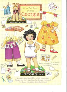 """""""ME"""" Mary Englebreit's monthly paperdolls. I think I did have this exact one."""