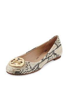 975bea4921188 Reva Snake-Print Ballerina Flat