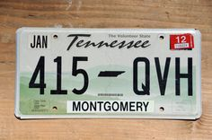 Old Tennessee License Plate Number 415QVH    #415QVH #TennLicensePlate #TennesseePlate #ManCave #OldTennessee #white #LicensePlate #Black #TENN #BlackAndWhite